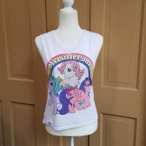 Tops - My Little Pony Twist Cut Out Open Back Muscle Tee